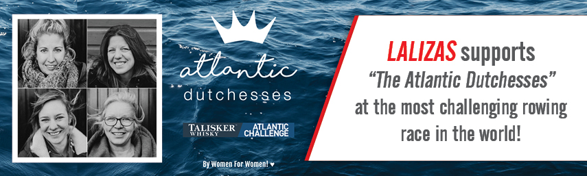 LALIZAS supports ''The Atlantic Dutchesses'' team at the Talisker Whisky Atlantic Challenge, the toughest rowing race in the world!